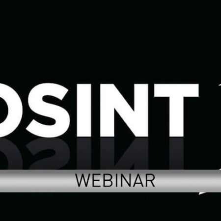 Webinar <br> Corso OSINT – Open Source INTelligence